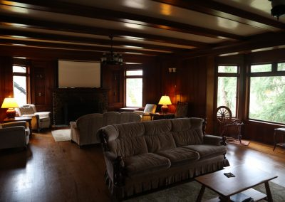 Guest House living room (currently the largest meeting space at Brooksdale)