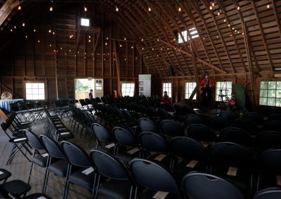 Barn loft interior, potential large meetings space