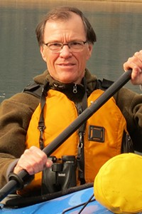 Ken Summers in Kayak