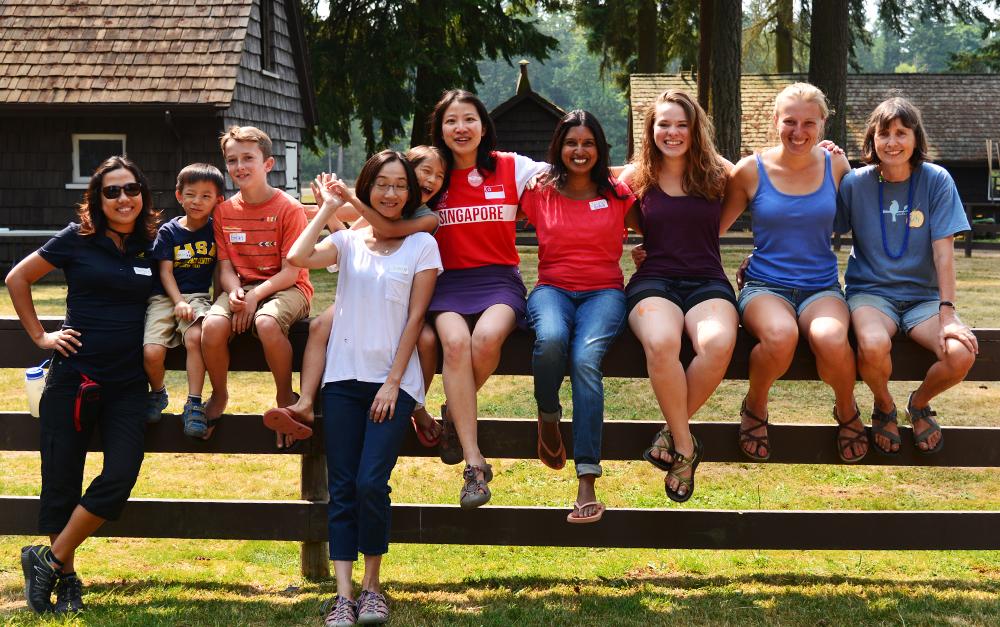 Education Volunteers 2016 Sitting on Fence