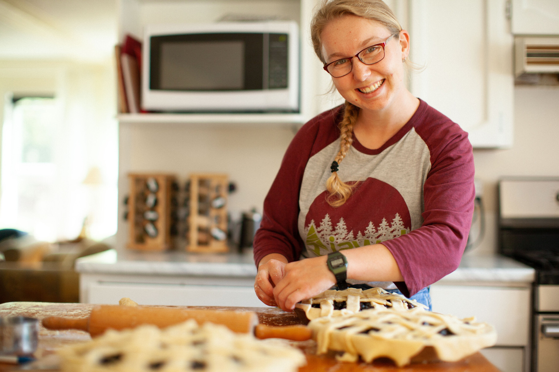 Laura Naftel baking pies